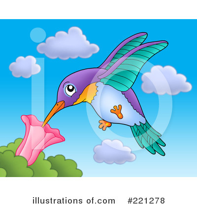 Royalty-Free (RF) Hummingbird Clipart Illustration by visekart - Stock Sample #221278