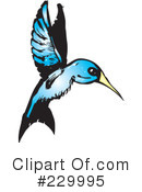 Royalty-Free (RF) Hummingbird Clipart Illustration #229995