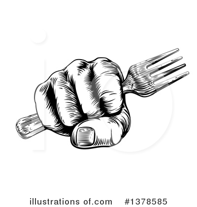Cutlery Clipart #1378585 by AtStockIllustration