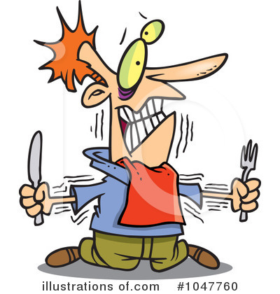 Royalty-Free (RF) Hungry Clipart Illustration by Ron Leishman - Stock ...