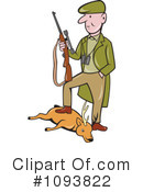 Royalty-Free (RF) hunter Clipart Illustration #1093822