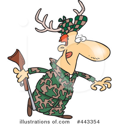 Royalty-Free (RF) Hunter Clipart Illustration by Ron Leishman - Stock ...