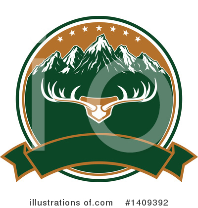 Deer Clipart #1409392 by Vector Tradition SM