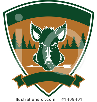 Boar Clipart #1409401 by Vector Tradition SM