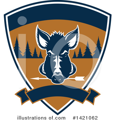 Boar Clipart #1421062 by Vector Tradition SM