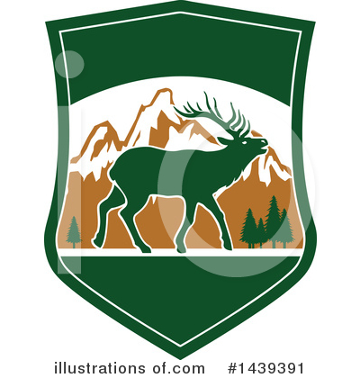 Elk Clipart #1439391 by Vector Tradition SM