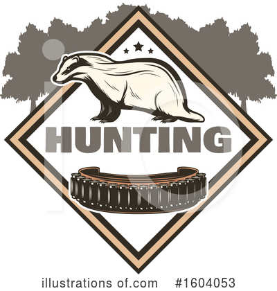 Badger Clipart #1604053 by Vector Tradition SM