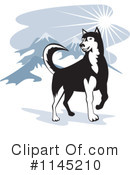 Royalty-Free (RF) Husky Clipart Illustration #1145210