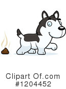Husky Clipart #1204452 by Cory Thoman