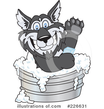 Royalty-Free (RF) Husky Mascot Clipart Illustration by Toons4Biz - Stock Sample #226631