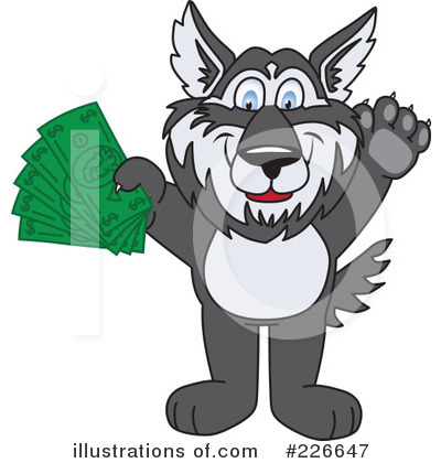 Husky Mascot Clipart #226647 by Toons4Biz