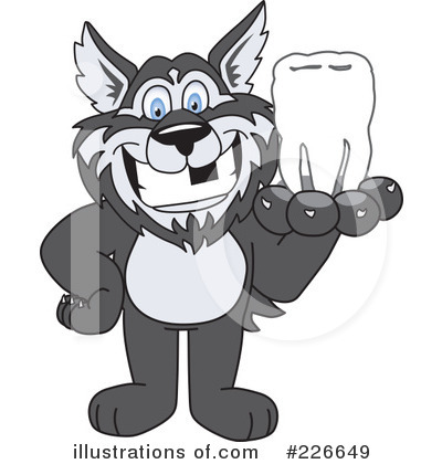 Husky Mascot Clipart #226649 by Toons4Biz