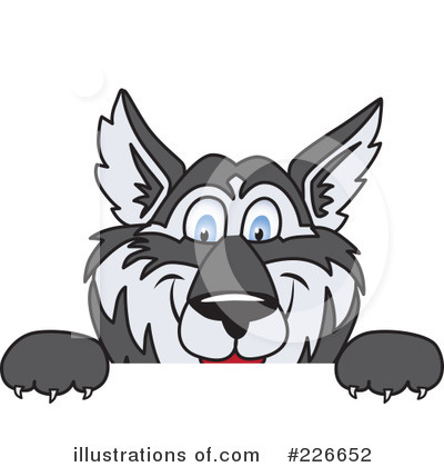 Husky Mascot Clipart #226652 by Toons4Biz