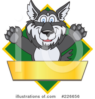 Husky Mascot Clipart #226656 by Toons4Biz