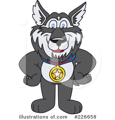 Husky Mascot Clipart #226658 by Toons4Biz