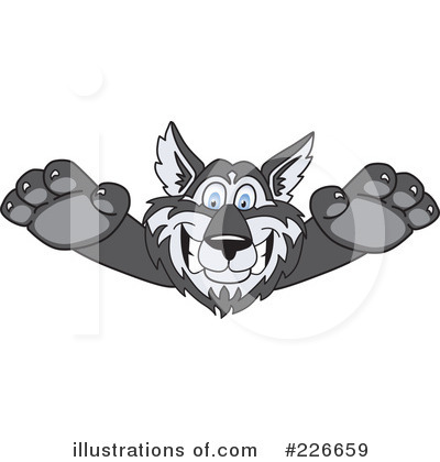 Husky Mascot Clipart #226659 by Toons4Biz