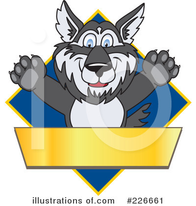 Husky Mascot Clipart #226661 by Toons4Biz
