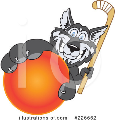 Husky Mascot Clipart #226662 by Toons4Biz