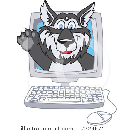 Husky Mascot Clipart #226671 by Toons4Biz