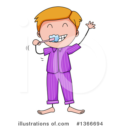 Brushing Teeth Clipart #1366694 by Graphics RF