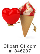 Ice Cream Character Clipart #1346237 by Julos