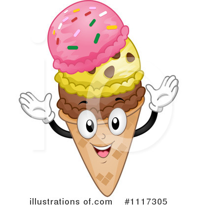 Royalty-Free (RF) Ice Cream Clipart Illustration by BNP Design Studio - Stock Sample #1117305