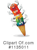 Royalty-Free (RF) Ice Cream Clipart Illustration #1135011