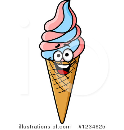 Ice Cream Clipart #1234625 - Illustration by Vector Tradition SM