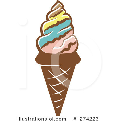 Ice Cream Clipart #1274223 by Vector Tradition SM