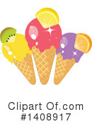 Ice Cream Clipart #1408917 by Melisende Vector