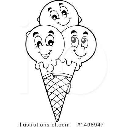 Ice Cream Clipart #1408947 by visekart