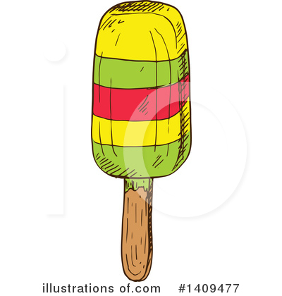 Popsicle Clipart #1409477 by Vector Tradition SM