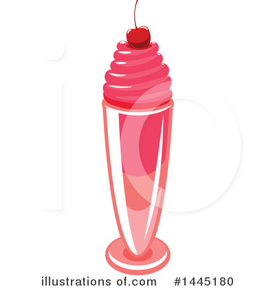 Milkshake Clipart #1445180 by Vector Tradition SM