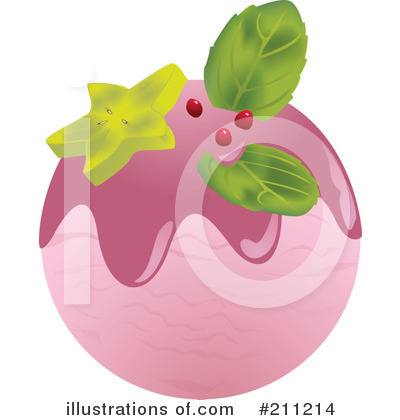 Royalty-Free (RF) Ice Cream Clipart Illustration by Eugene - Stock Sample #211214