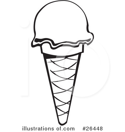 Black And White Ice Cream Clipart