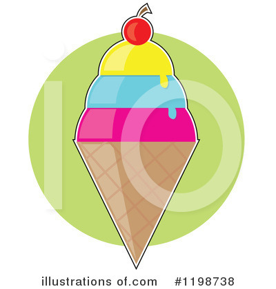 Ice Cream Clipart #1198738 by Maria Bell