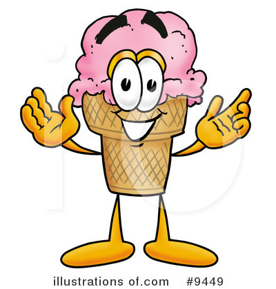 Ice Cream Cone Clipart #9449 by Toons4Biz