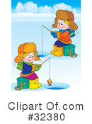 Royalty-Free (RF) Ice Fishing Clipart Illustration #32380