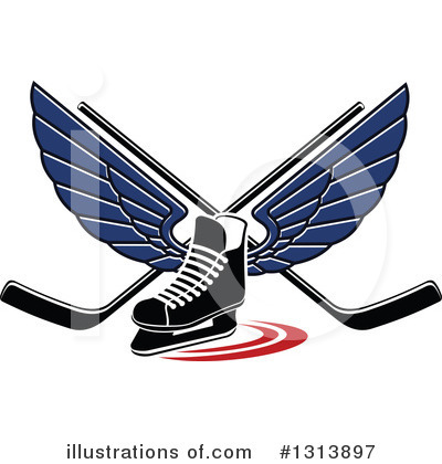Hockey Clipart #1313897 by Vector Tradition SM
