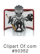 Royalty-Free (RF) Ice Hockey Clipart Illustration #90352