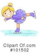 Royalty-Free (RF) ice skating Clipart Illustration #101502