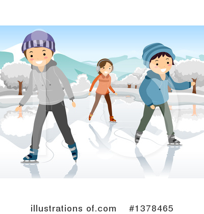 Skating Clipart #1378465 by BNP Design Studio