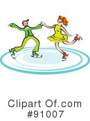 Royalty-Free (RF) Ice Skating Clipart Illustration #91007