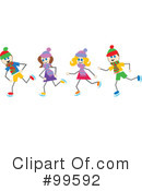 Royalty-Free (RF) Ice Skating Clipart Illustration #99592
