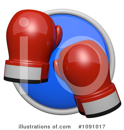 Boxing Gloves Clipart #1091017 by Leo Blanchette