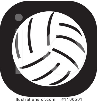 Volleyball Clipart #1160501 by Johnny Sajem