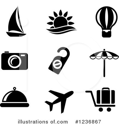Beach Clipart #1236867 by Vector Tradition SM