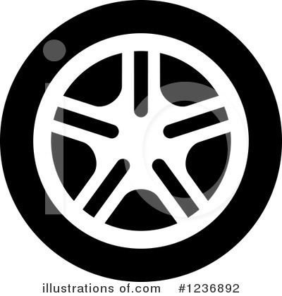 Tire Clipart #1236892 by Vector Tradition SM