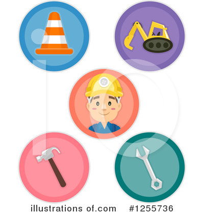 Construction Worker Clipart #1255736 by BNP Design Studio
