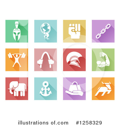 Icons Clipart #1258329 by AtStockIllustration